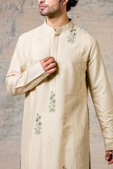 Pista Cotton Silk Kurta Set