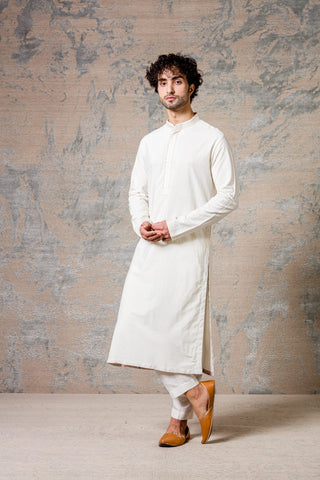 Ivory Diamond Pin Tuck Kurta Set