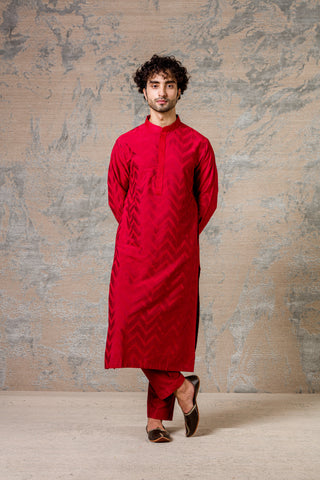 Scarlet Red Kurta Set