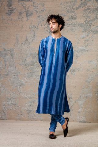 Blue Tie and Dye Kurta Set