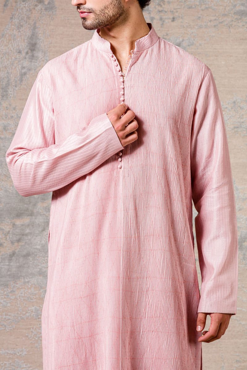 Blush Diamond Pintuck Kurta Set
