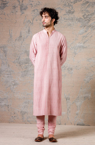 Blush Diamond Pin Tuck Kurta Set