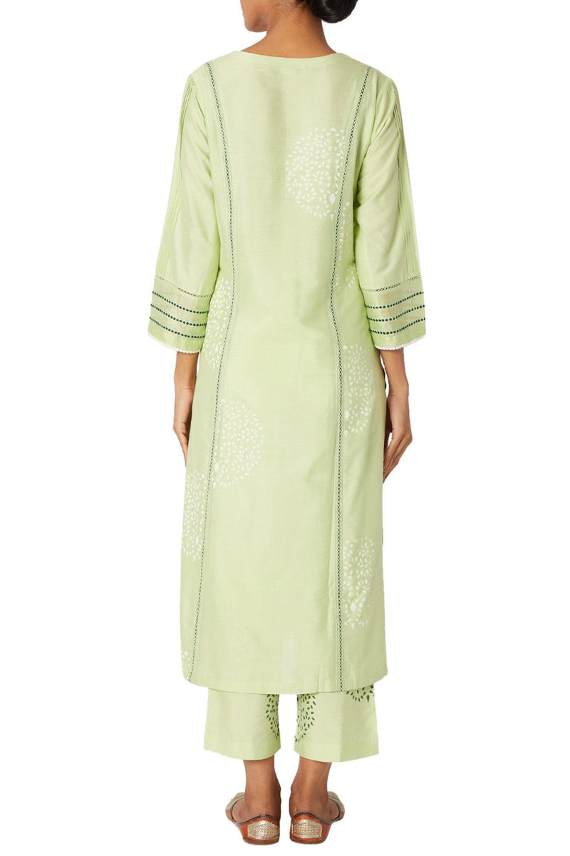 Lime Green Kurta Set