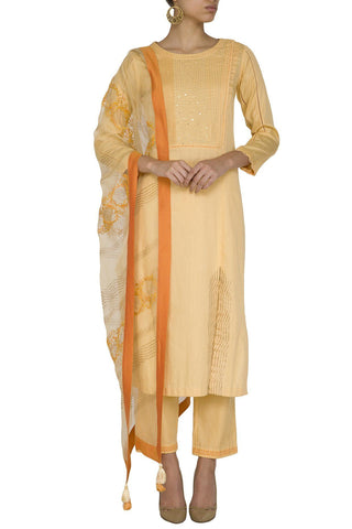 Mango Kurta with Slim Pants - devnaagri