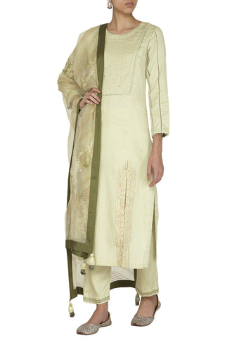 Mint Green Kurta with Slim Pants - devnaagri