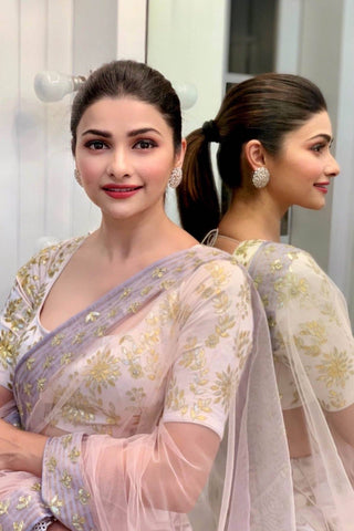Prachi Desai In Water Pink Lehenga with Silk Blouse
