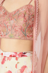 Rose Pink Printed Sharara Set