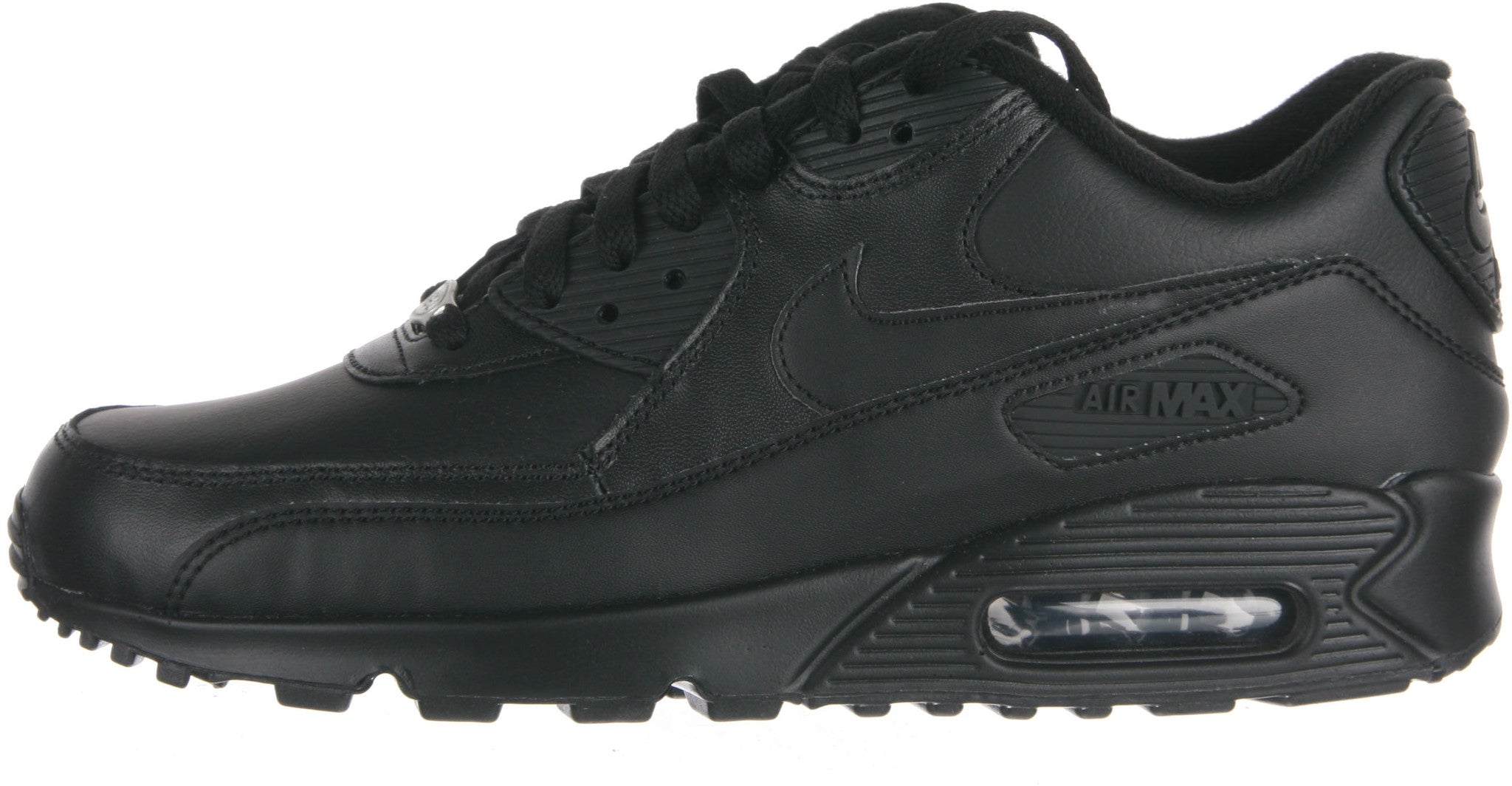 more photos bcab2 93cc4 Nike Air max  90 leather men s sneakers black (302519-001). Tap to expand