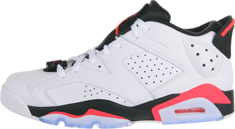 AIR JORDAN 6 RETRO LOW Mens WHITE/BLACK//INFRARED 23 304401-123