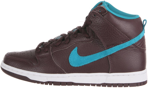Nike Dunk High Premium SB Men's Sneakers in Deep Burgundy/Aquamarine (313171-601)