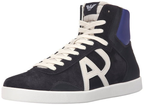 Armani Jeans Men's Classic Aj Logo High Top Fashion Sneaker CM564-18-35
