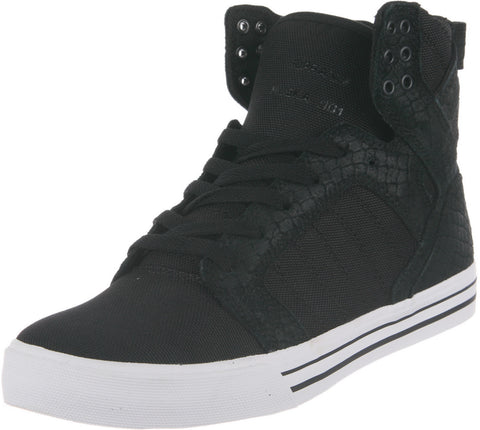 SUPRA SKYTOP BLACK - WHITE Mens Sneakers S18250