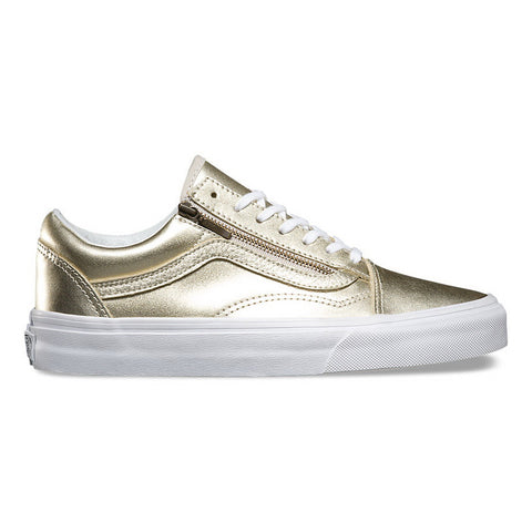 Vans METALLIC LEATHER U OLD SKOOL ZIP Mens Sneakers VN-018GIGY