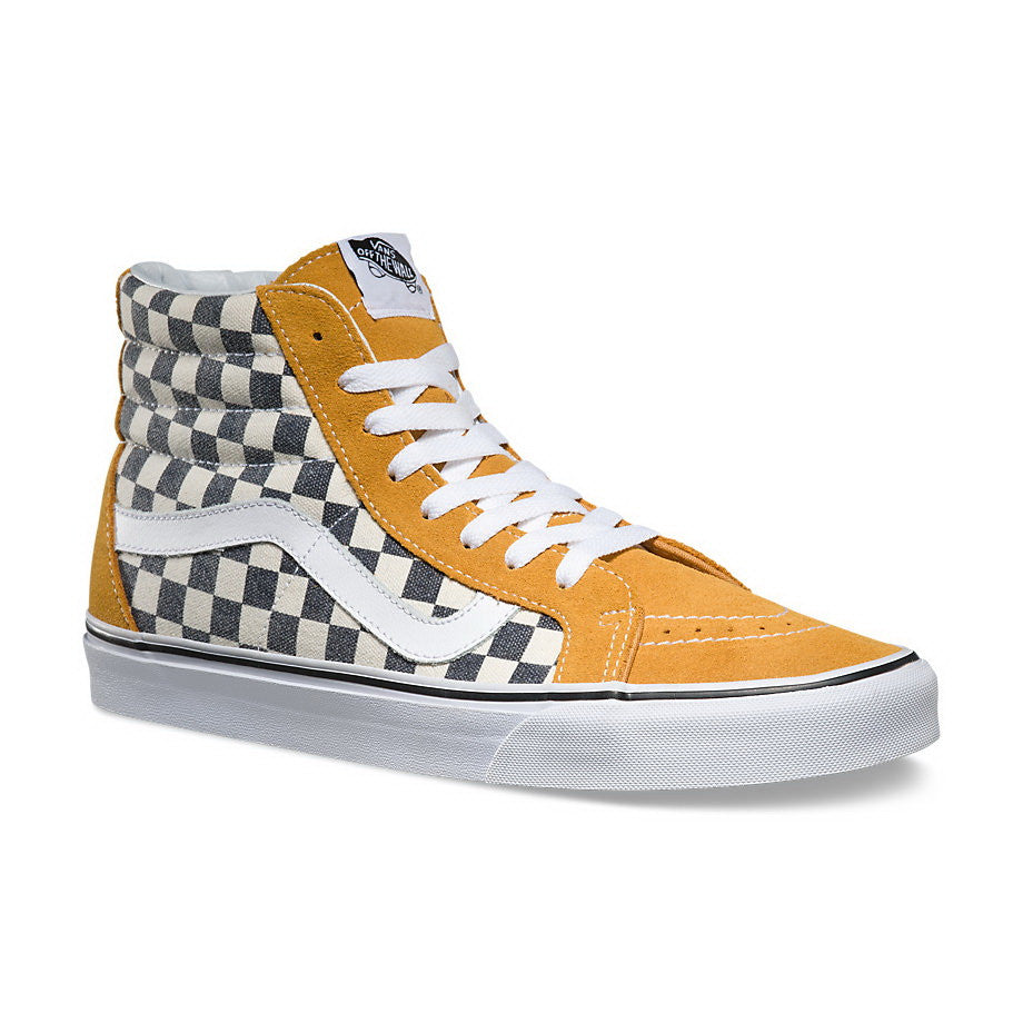 vans sk8 hi checkerboard yellow