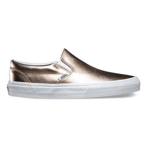 Vans METALLIC LEATHER U CLASSIC SLIP-ON Mens Sneakers VN-03Z4IGA