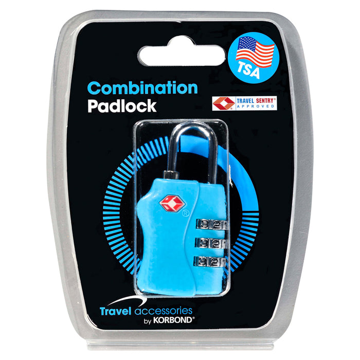 TSA Combination Padlock for suitcases, lockers and backpacks