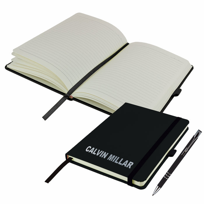 Mini A6 Personalised Notebooks and matching Pen - Twin Pack