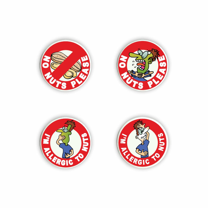 Nut Allergy Pin Badges