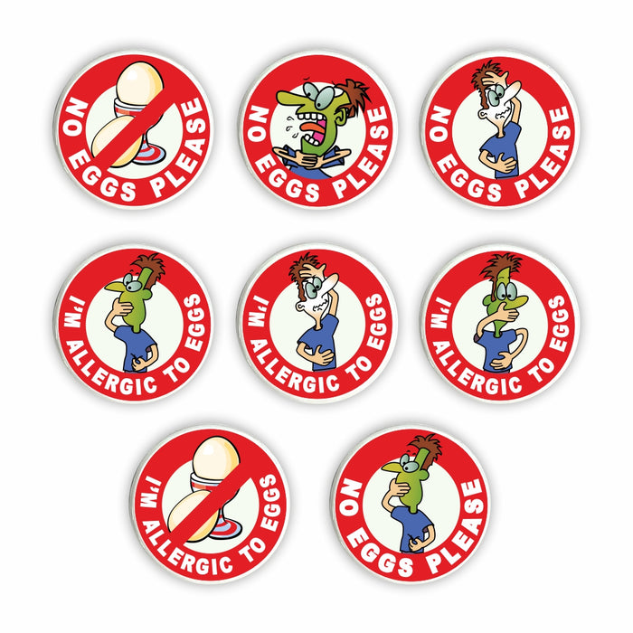Egg Allergy Pin Badges