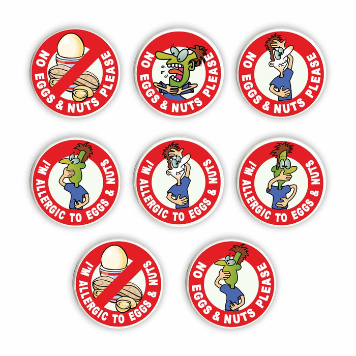 Egg & Nut Allergy Pin Badges