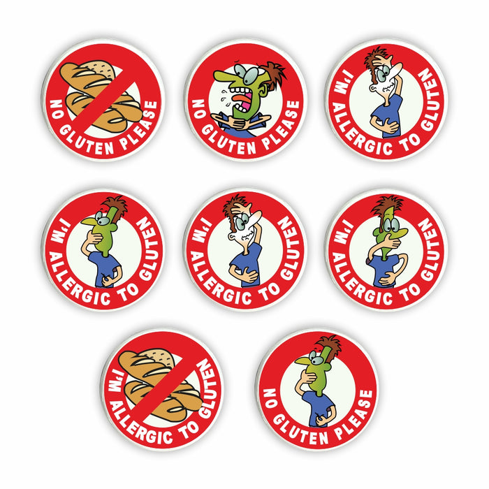 Gluten Allergy Pin Badges