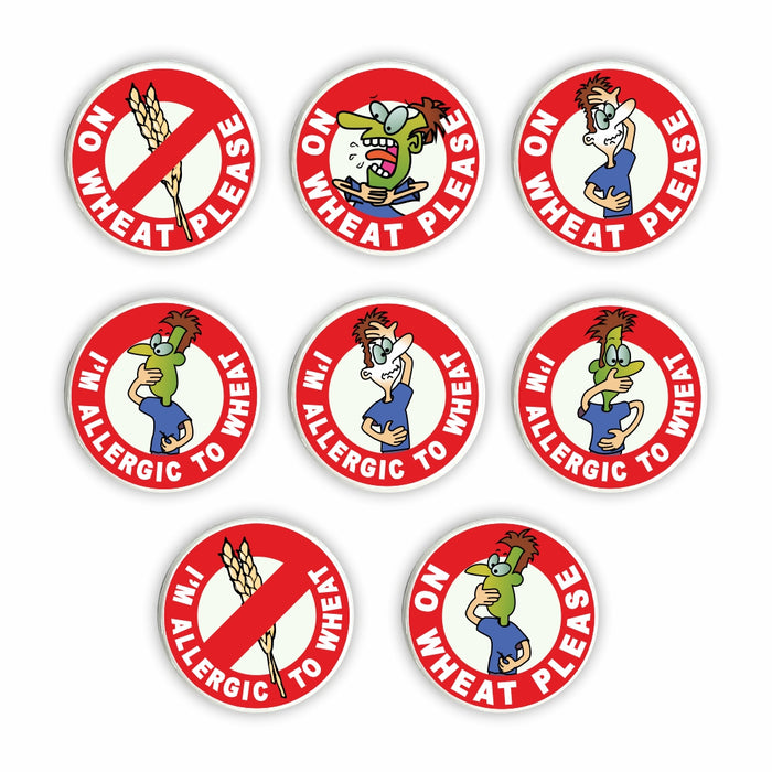 Wheat Allergy Pin Badges