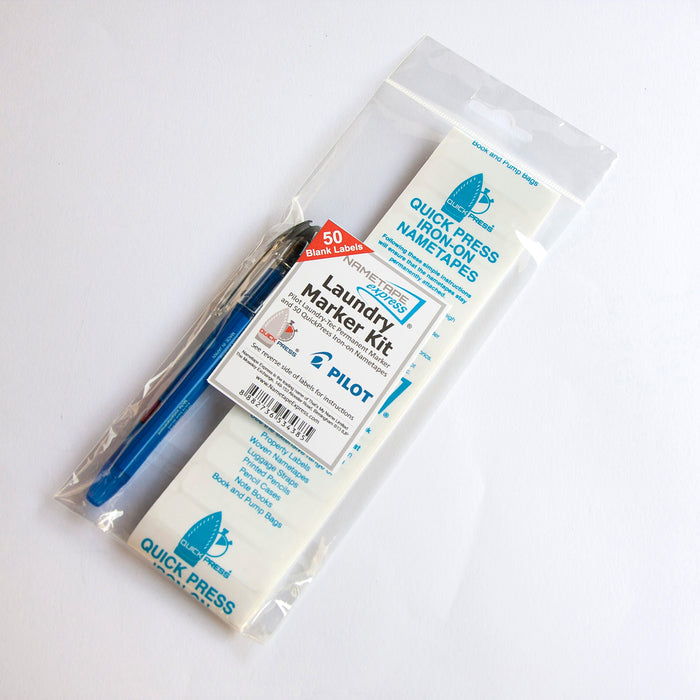 Laundry Kit with Pilot Laundry-Tec Marker & Blank Tapes