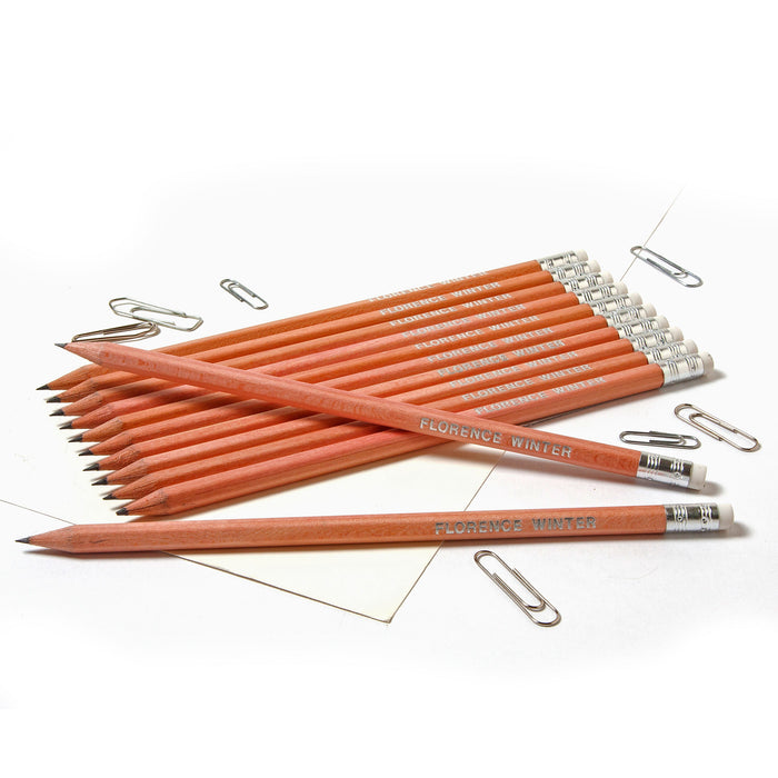 Hashtag # Pencils Embossed with Name