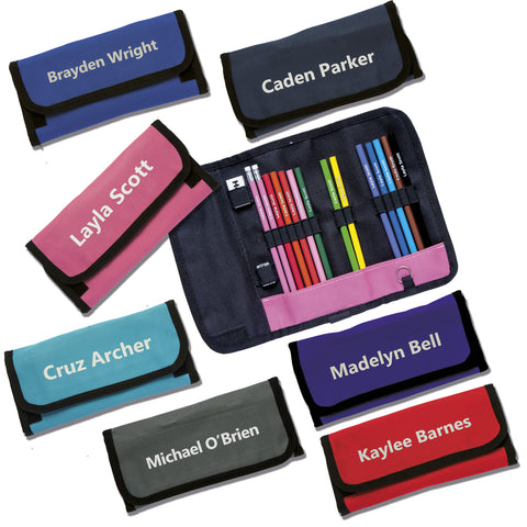 Wrap Case with Colouring Pencils Printed with Name