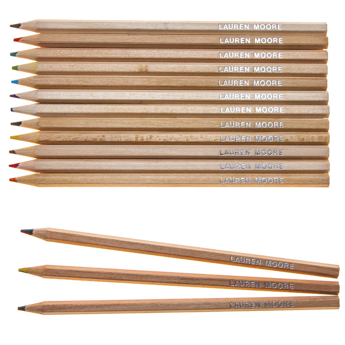 Natural Wood Colouring & 3 Rainbow Lead Pencils