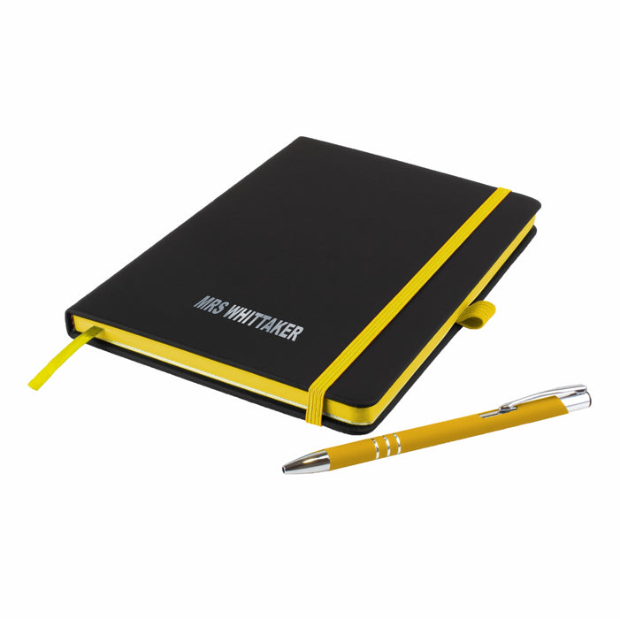 'The Edge' Personalised Notebook and Matching Pen