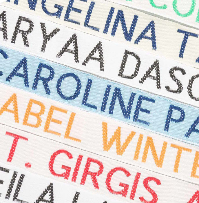 Half Inch Wide Woven Nametapes