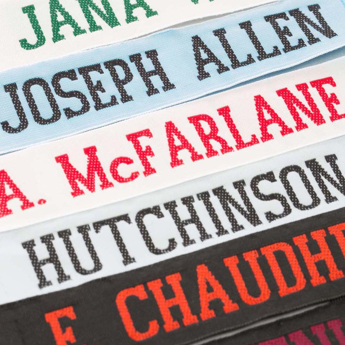 One Inch Wide Woven Nametapes