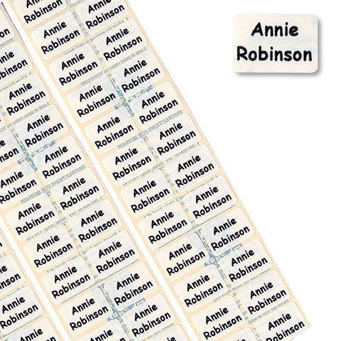 Mini Iron-On Printed Name Tapes