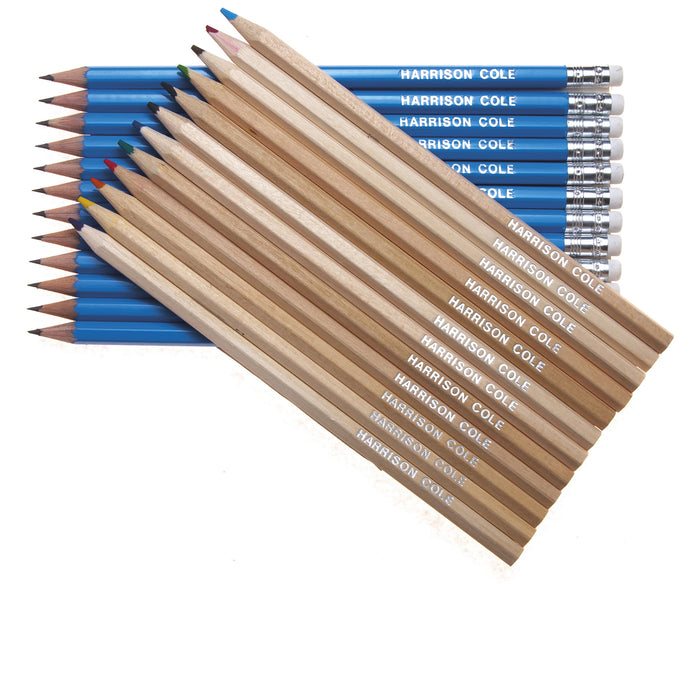 12 Natural Wood Colouring & 12 Graphite Pencils