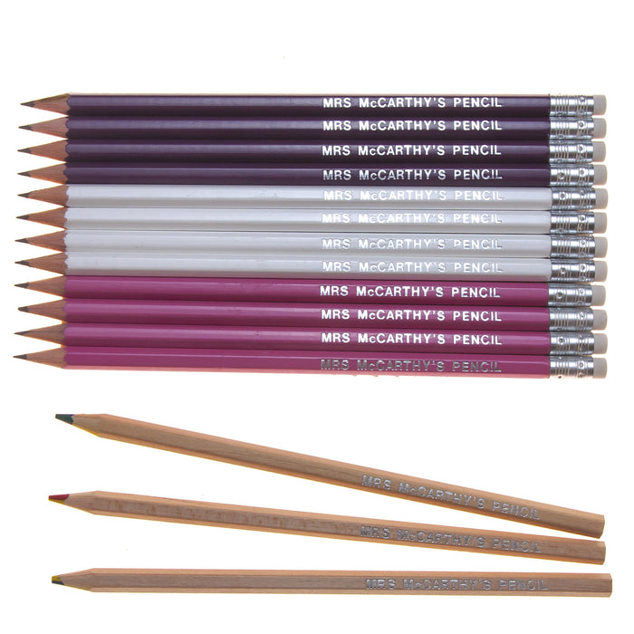 12 Graphite & 3 Rainbow Lead Pencils