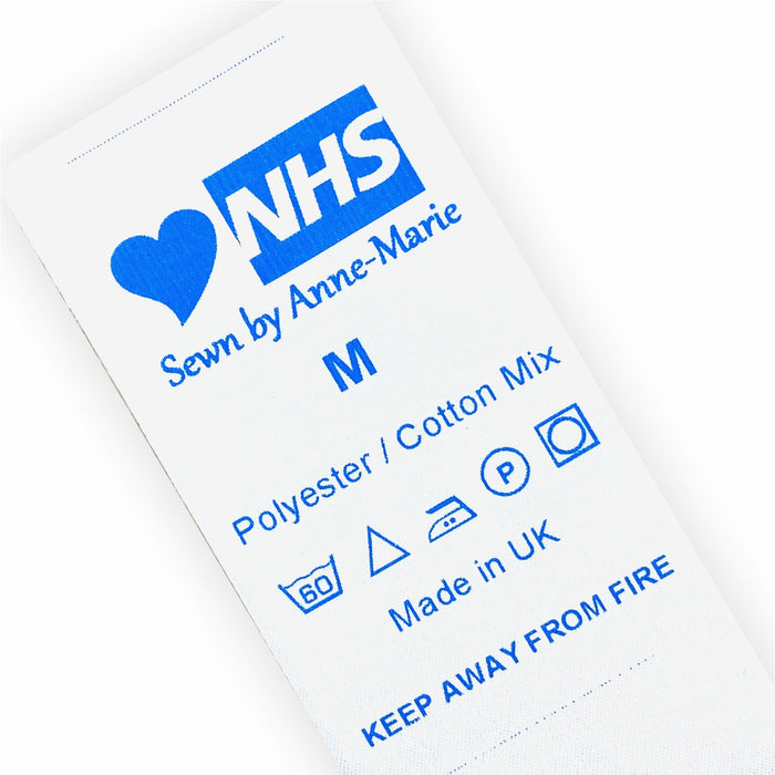 NHS Scrubs/Bags/Hats Sew-in Labels