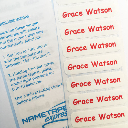 QuickPress™ Iron-on Nametapes