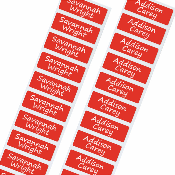 Water Bottle Labels - Dishwasher Proof Nametags