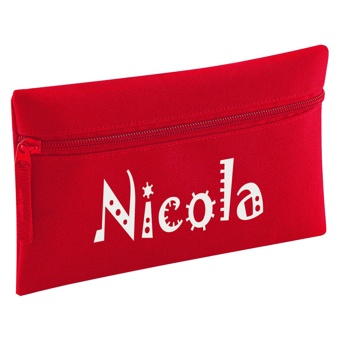 Zip Pencil Case Printed with Name