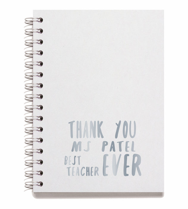 Thank you Teacher Note Books - Style M