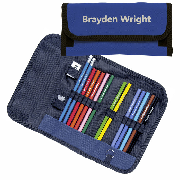 Wrap Case with Round Colouring Pencils