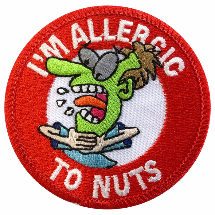 Nut Allergy Sew-on Patch/Badges