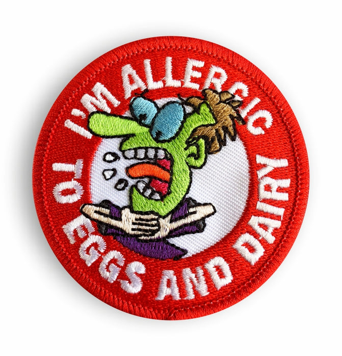 Eggs & Dairy Allergy Sew-on Patch/Badges