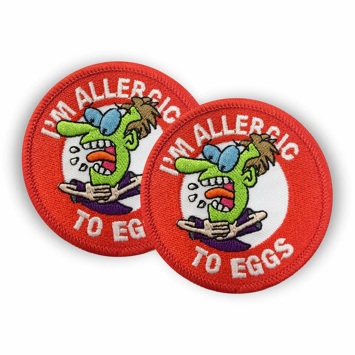Egg Allergy Sew-on Patch/Badges