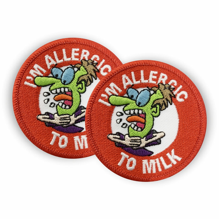 Milk Allergy Sew-on Patch/Badges