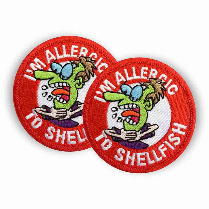 Shellfish Allergy Sew-on Patch/Badges
