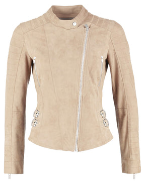 Ellie leather jacket - light beige