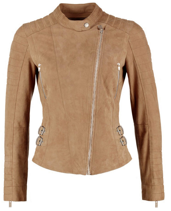 Ellie leather jacket - camel