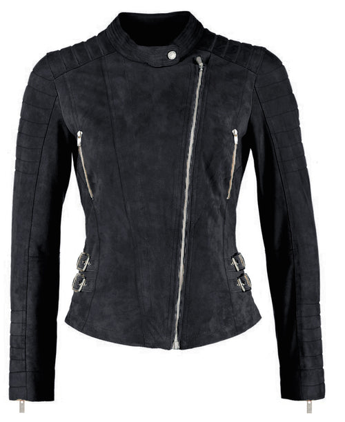 Ellie leather jacket - black
